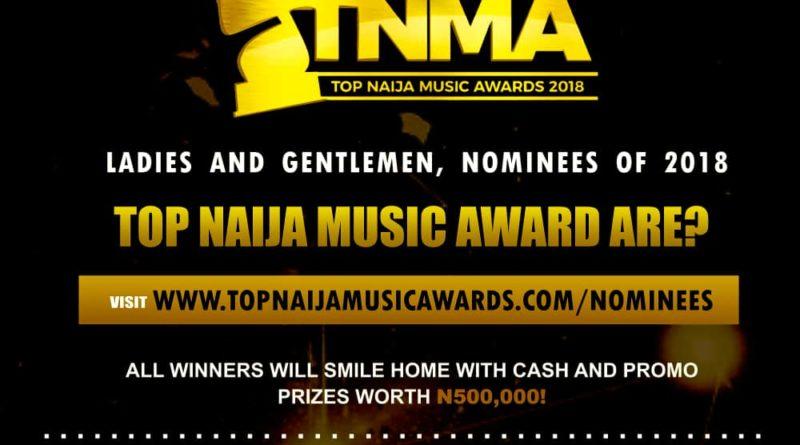 Official Nominees of 2018 Top Naija Music Awards (Full List)