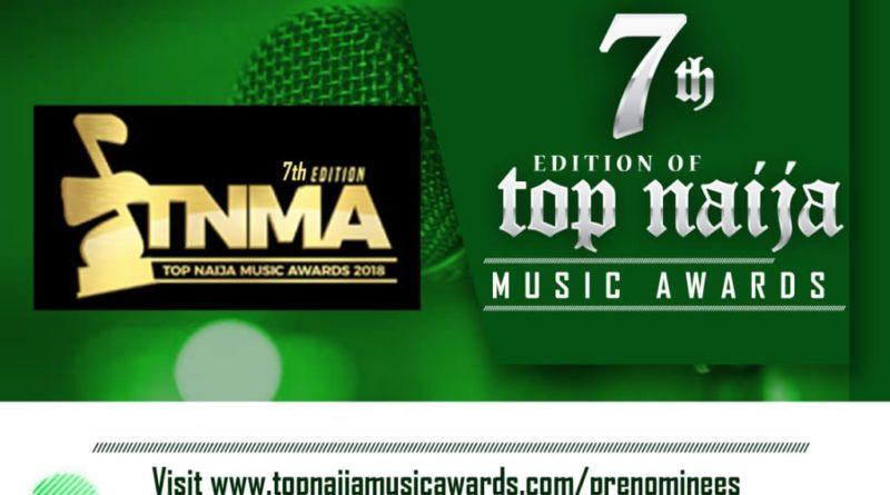 Official Nominees of 7th Top Naija Music Awards