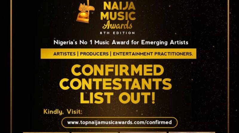 8th Top Naija Music Awards Confirmed Contestants